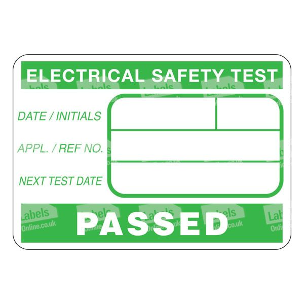 Electrical Safety Inspection Stickers : Electrical safety test stickers kamos sticker